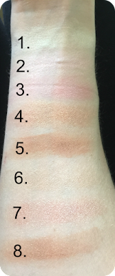 freedom pro blush and highlighter palette in bronze and baked swatches