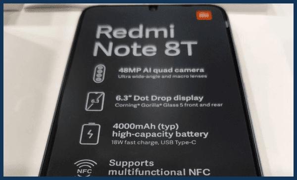 ظهور هاتف جديد من شاومي بإسم Redmi Note 8T