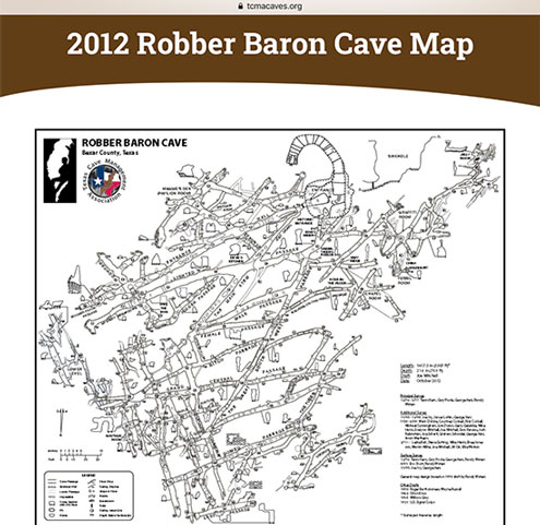 Map of the Robber Baron Cave (Source: tcmacaves.org)