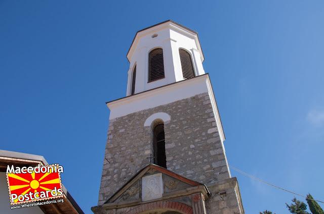 Камбанарија донација од Михајло Пупин - Црква Пресвета Богородица Привлептос (Св. Климент) - Охрид, Македонија