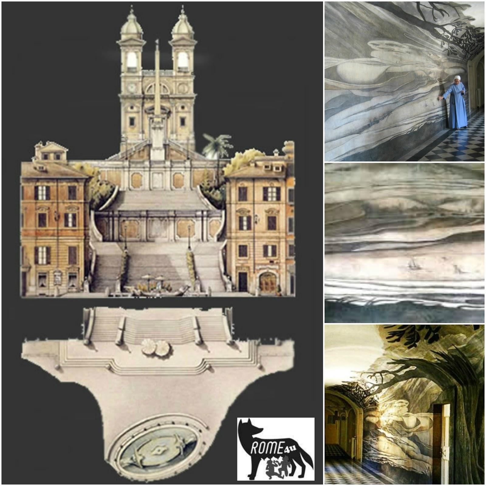 Sabato 17/11/18, h 10.30 - Visita guidata - Illusioni prospettiche, anamorfosi criptiche e segreti incanti di Trinità dei Monti
