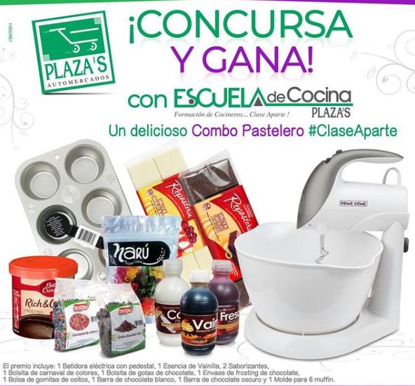 Sorteo de Escuela de Cocina Plaza's en Instagram