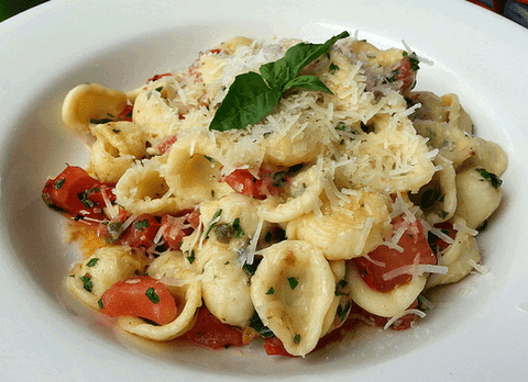 Orechiette pasta with tomatoes