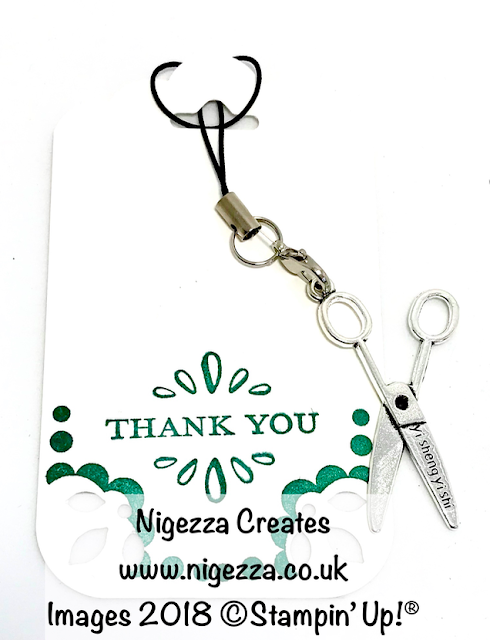 Stampin' Up!® Customer Thank you gift: Scissor Charm