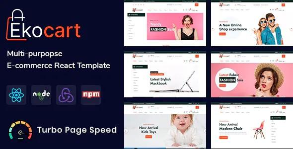 Best Multipurpose eCommerce React Template