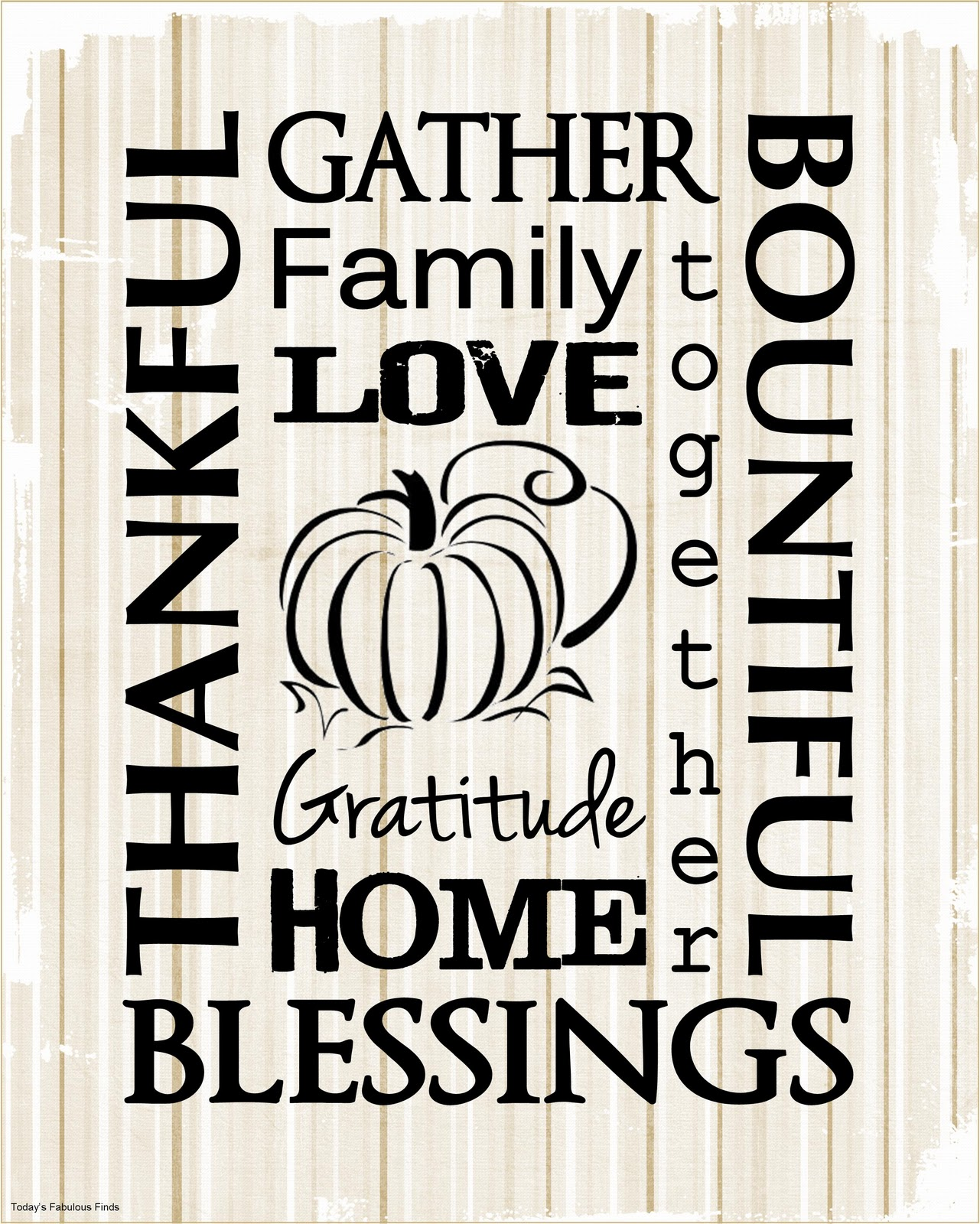 Thanksgiving Subway Art Free Printable