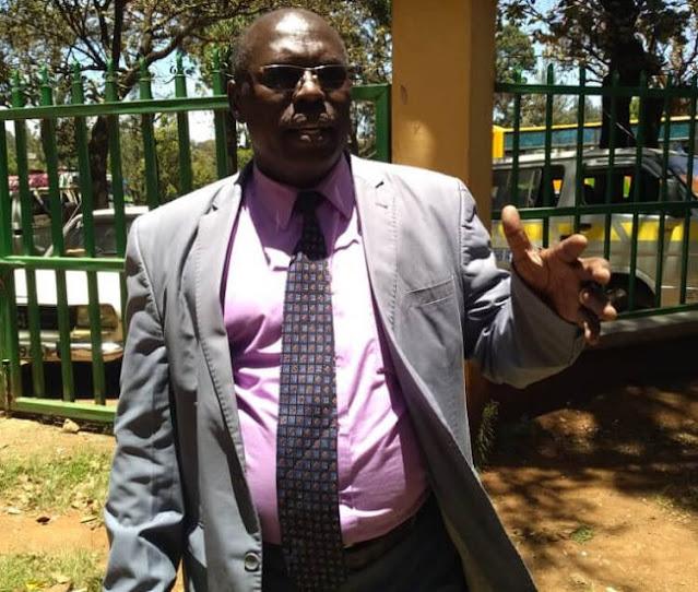 Bishop Wilson Kurui at Eldoret prayer gathering.