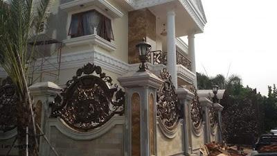 pagar untuk rumah mewah
