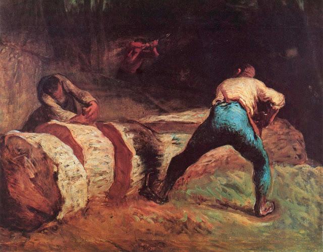 Жан Франсуа Милле - Пильщики. 1852