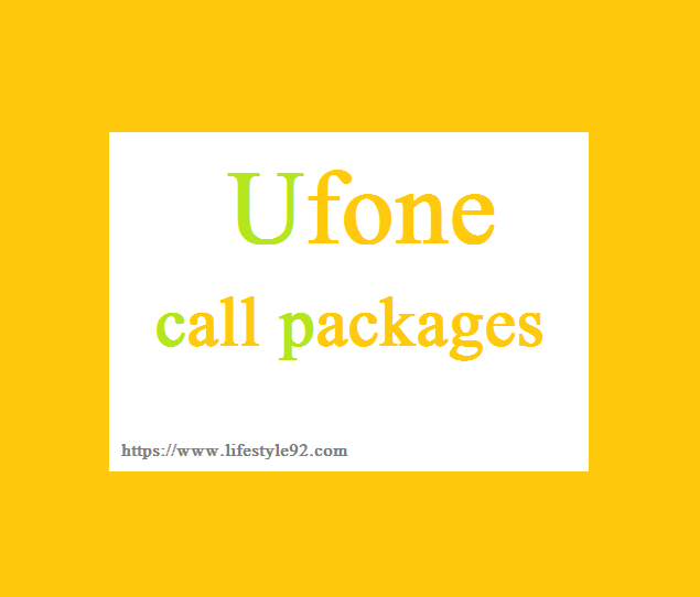 Ufone call packages