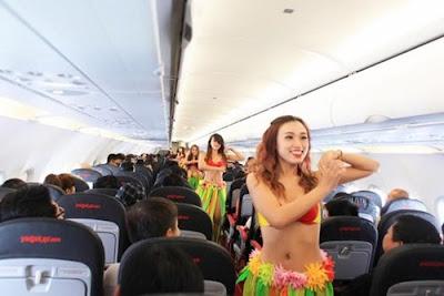 Những lần tiếp viên hàng không VietJet Air mặc bikini