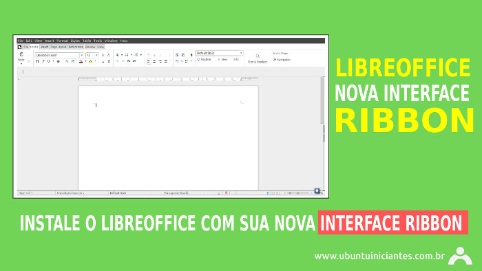 instalar libreoffice no ubuntu com a interface ribbon