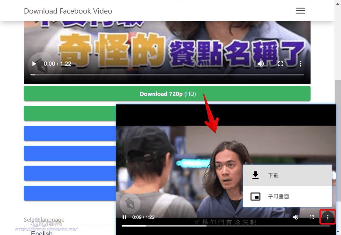 Snapsave.app 下載FB影片支援1080p高畫質