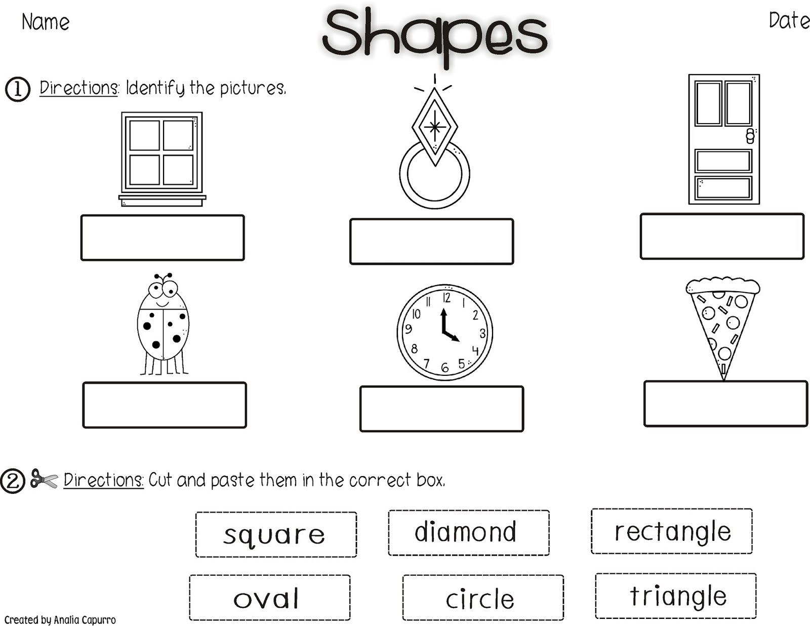 Oval Cut And Paste Worksheet