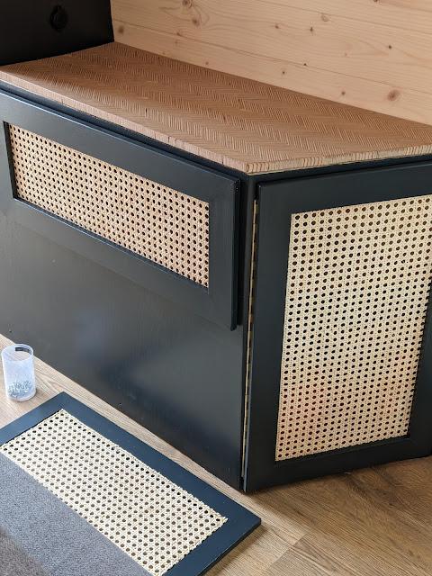 Cane webbing cupboard doors