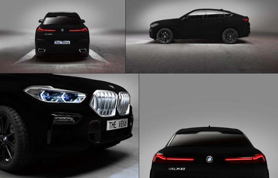 BMW X6 Vantablack, l'auto più nera del mondo.