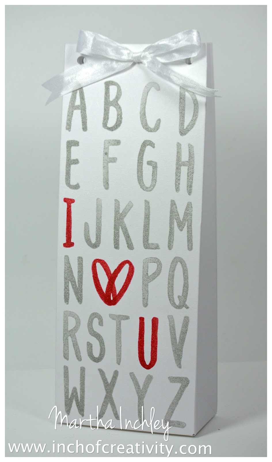 Layered Letters Gift Bag