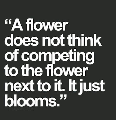 A flower doesn't compete with other flowers