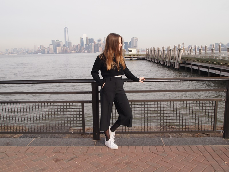 outfit, ootd, outfit of the day, fblogger, fahion blog, fashion blogger, culottes, adidas, zara, monki, winter, new york, new york city, nyc, undersizedcloset, undersized closet, trend, style