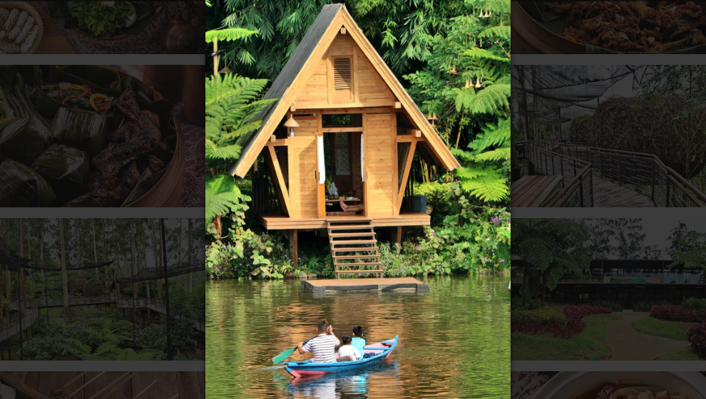 Panorama Alam dan Budaya Tradisional Dusun Bambu Bandung
