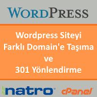 Wordpress Siteyi Farklı Domain'e Taşıma ve 301 Yönlendirme