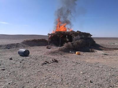 تدمير 5 أوكار وعربتي دفع رباعي لتكفيريين في وسط سيناء