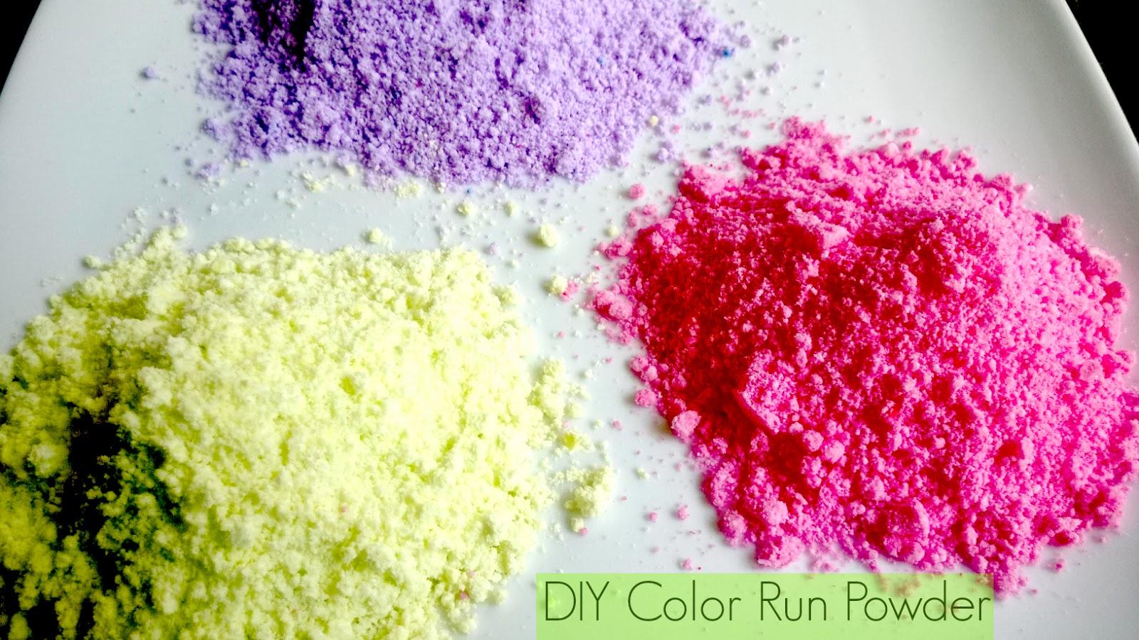 Diy Color Run Powder