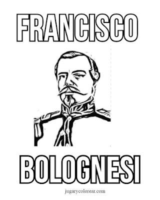 colorear Bolognesi y sus hombres dieron la vida por defender la patria