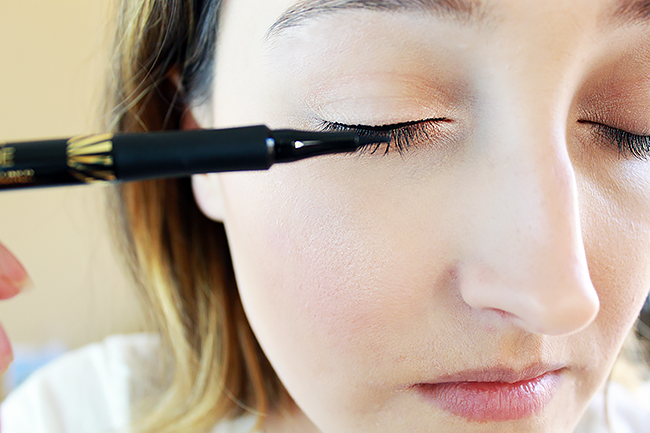 Applying Max Factor Masterpiece High Precision Liquid Eyeliner
