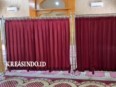 Harga Hijab Masjid Stainless atau Pembatas Sholat atau Partisi Masjid Terbaru [ Update Juli 2021
