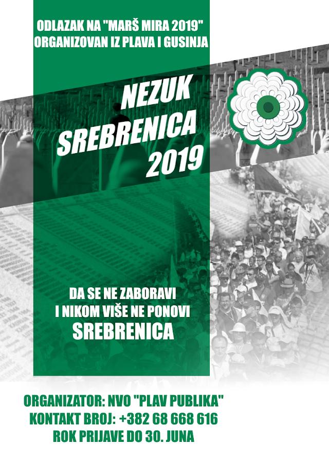 "Organizovan odlazak na ""Marš mira 2019"" iz Plava i Gusinja"