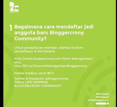 Gabung jadi anggota Bloggercrony