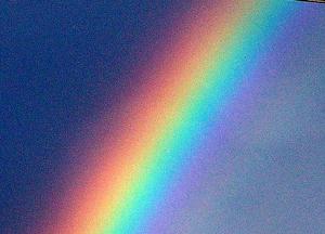 Imagen de un arco íris como símbolo del Aura