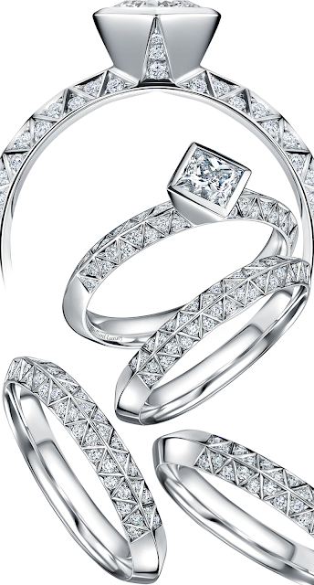 Andrew Geoghegan Empress Eternity wedding diamond ring set #brilliantluxury