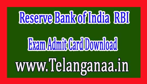 RBI Assistant Prelims Exam Admit Card Download 2016