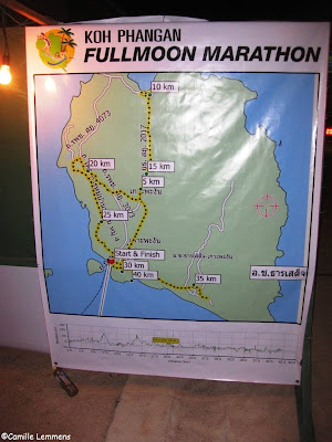 Koh Phangan Full Moon marathon route