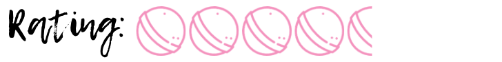 graphic that had 4 and a half pink bath bomb images which is my rating of the Mercury Retrograde bath bomb