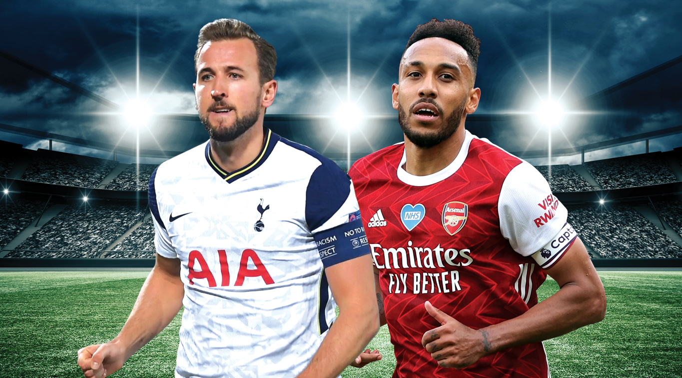 Former Golden Boot winners Harry Kane and Pierre-Emerick Aubameyang will lead the line for their respective clubs