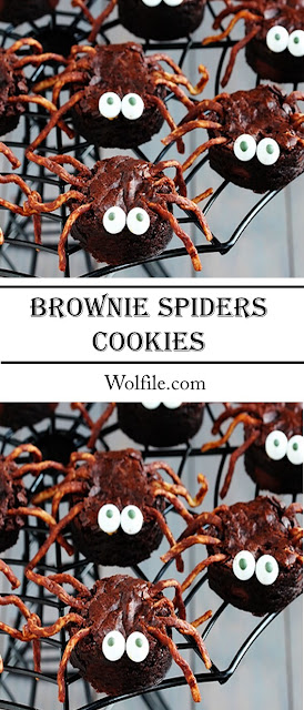 Brownie Spider Recipe #Brownies Chocolate #cake #Halloween