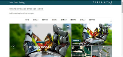 Template pronto para blog facil editar Noticias