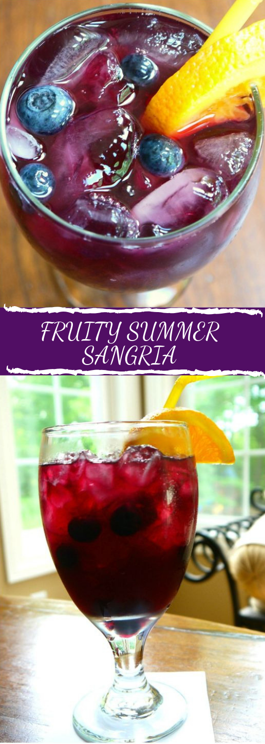 FRUITY SUMMER SANGRIA #smoothie #drink #sangria #summer #cocktail