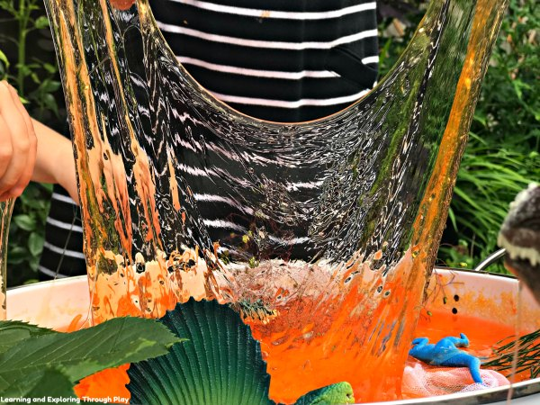 Dinosaur Slime Small World Tuff Tray