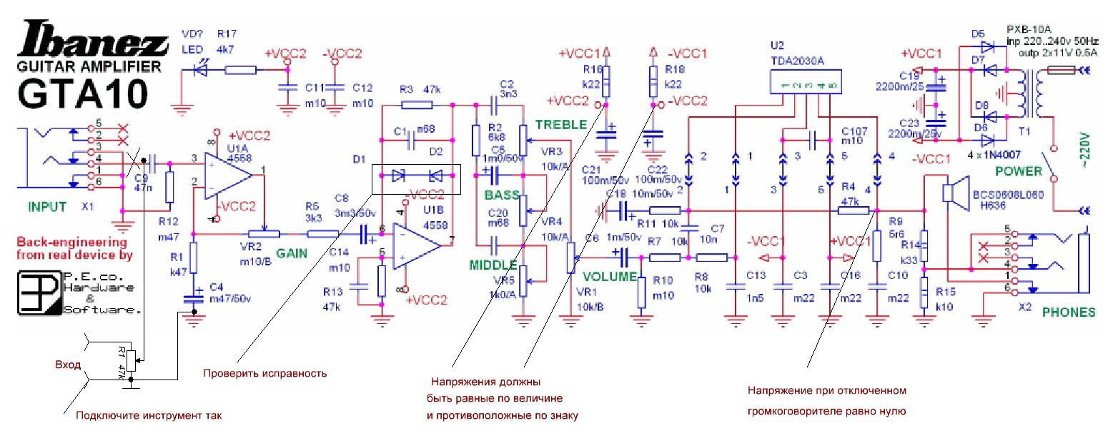 Cara Membuat Ampli Gitar Dari Skema serta PCB Layout Ibanes GTA10