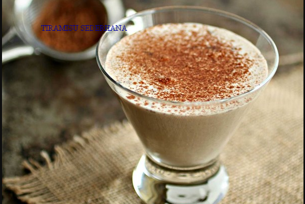 Minuman Tiramisu Sederhana