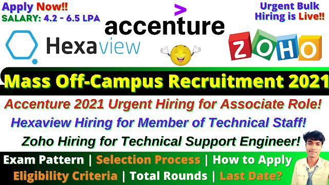 Accenture Mega Off Campus Drive 2021