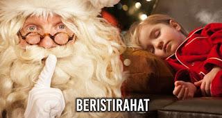 Beristirahat merupakan salah satu kegiatan saat malam Natal