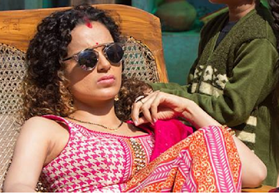 Kangana Ranaut as Manu in Tanu Weds Manu Returns, Basking in sun, in Tanu Weds Manu Returns, directed by Anand Rai