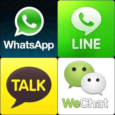Perbedaan Antara WhatsApp, Line, WeChat Dan Kakao Talk
