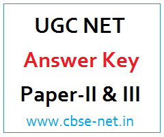 image : UGC NET Answer Key English Paper-II & III @ www.cbse-net.in