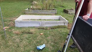New raised beds being installed.
